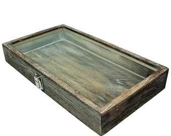 """2"""" H Antiqued Wooden Jewelry Tray"""