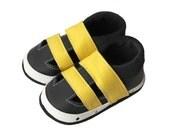 Leather Baby Sandals, Baby Shoes, Infant Newborn Nursery Children Yellow Black
