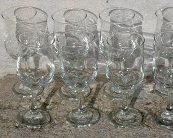 vintage libbey wine glasses set of 8 vin connoisseur original box mid century barware stemmed glasses 8 ounces gift idea
