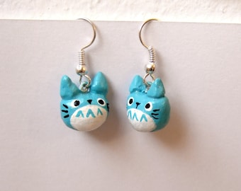 Blue Totoro earrings