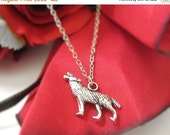 VALENTINES DAY SALE - Silver Wolf Necklace For Men or Women - Sterling Silver Wolf Jewelry - Howling Wolf Charm Necklace - Wolf Pendant - Wo