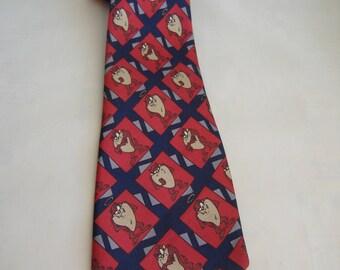 Men's Tazmanian Devil Silk Necktie, 1994