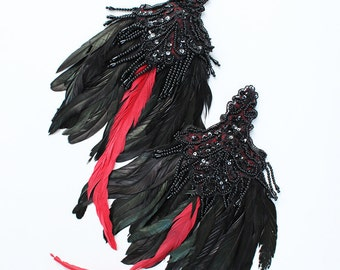 Ready to Ship Miyu Decay Feather Epaulettes