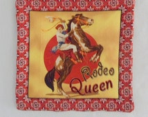 Fabric Hot Plate Southwest Design Hot Pad Rodeo Queen