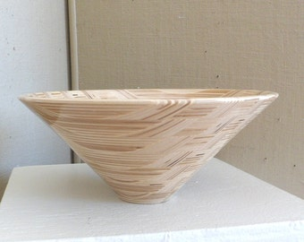 Segmented Wood Bowl Handmade Wood Bowl Hand Crafted Plywood Salad Bowl Design One of a Kind Gift for Chef Gift for Home Wedding Gift