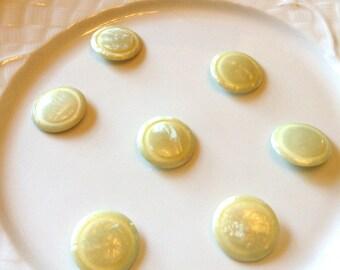 Mint Green Celluloid buttons