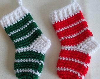 Mini Christmas Stockings, Small Crocheted Christmas Stockings, Teacher Christmas Gift, Co-worker Christmas Gift, Christmas Gift Ideas