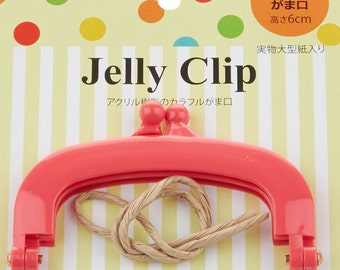 Jelly Clip - Hot Pink - 4""