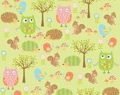 Owl & Co Fabric Friends in Green by Riley Blake - Half Yard