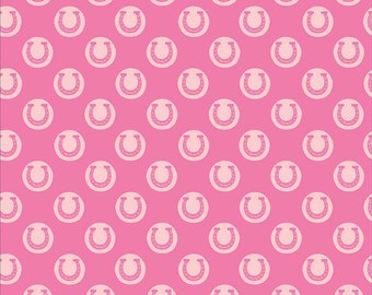 Derby Style Fabric Luck in Pink-  by Riley Blake - Half Yard
