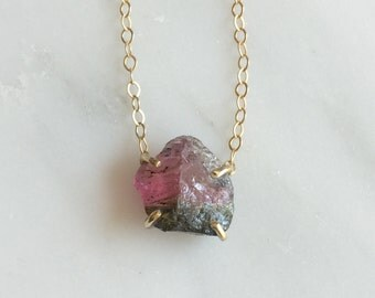Watermelon Tourmaline Necklace