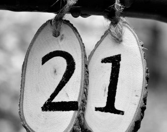 21 Photograph Custom Date - Wedding Date - Wedding Decor - Anniversary Date - Number Dates - Number Photo Art - Date Photography