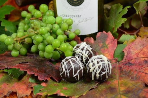 Chocolate Truffles, Chardonnay, Wine Truffles, Dark Chocolate Truffles, Wine Chocolate, Chocolate Wine, Gifts for Him, Hostess Gift