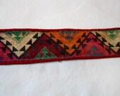 Antique Uzbek Hand Woven Trim Peshkurta Roll