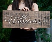 Family  Sign | EST Family Sign | Family  Last Name Sign |Personalized Family Last Name Sign | Family Last Name Sign |