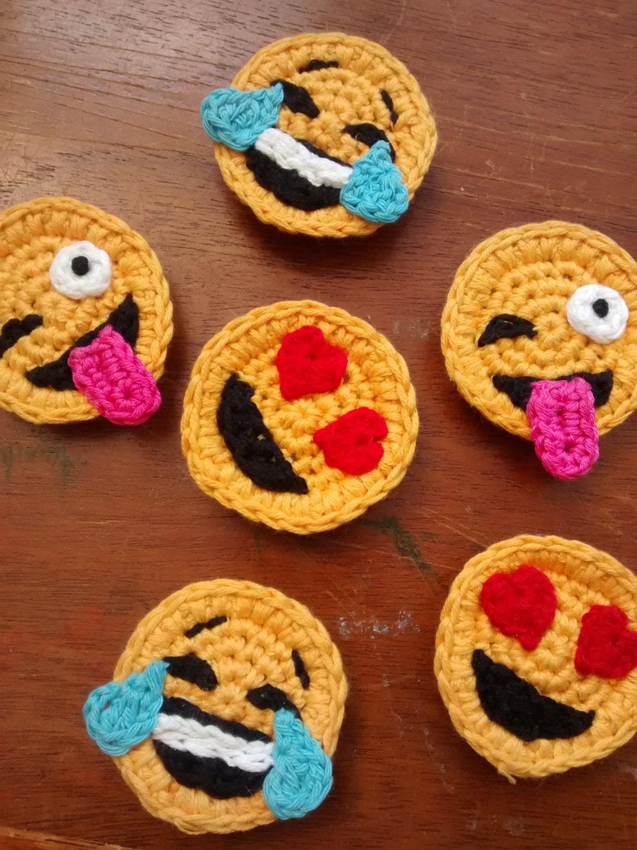 Conjunto de 3 imanes de emoji de ganchillo by - Toca de ganchillo ...