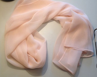 Silk Chiffon Scarf - Pink