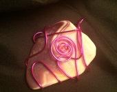 Hot pink Wampum Shell Jewelry