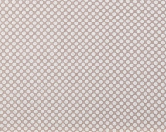 SALE Gray White Small Polka Dots      Modern Apparel Quilting    Cotton fabric.