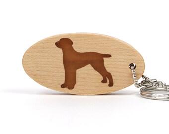 Weimaraner Key Chain Wood Dog Breed Key Chain Wooden Pet Key Chain Scroll Saw Weimaraner Dog Key Ring Cherry