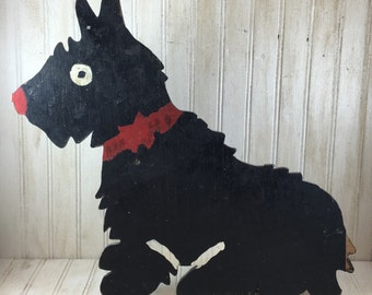 Black Cast Iron Scotty Dog For Outdoors