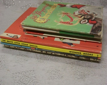 9 Classic Children's Books From The 1950's And 60's HB Tell-A-Tale, Jr. Elf & Others