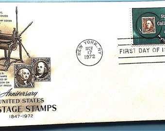 American First Day Issue Society Stamp and Cover USPS 1972