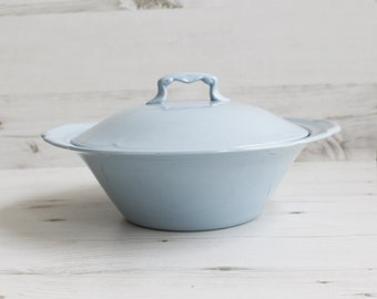 Vintage Blue Johnson Brothers Greydawn Lidded Tureen Vegetables Serving Kitchenware Pottery