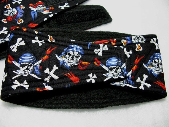 Male Dog Belly Bands Waist 14.50 x 4.00 Fits 12.00 to 17.00 inches Wrap by Sew Dog Diapers Quilted Padded Belt BellyBand #40 PIRATES