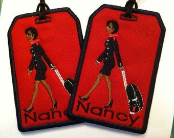 Flight Attendant Bag Tag Personalized