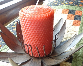 Autumn Beeswax Candles, Beeswax Candle, Red Beeswax Candle, Pumpkin Beeswax Candle, Rust Beeswax Candle, Candle, Fall Candle for the Home