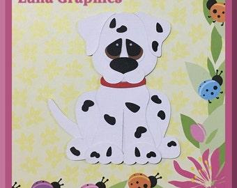 DALMATIAN DOG 1  Embellishments Paper Piecing card making and scrapbooking