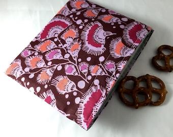 Reusable Snack Bag - Reusable Baggie - Purple Snack Bag - Fabric Snack Bag - Reusable Fabric Snack Bag - Amy Butler Bright Heart in Plum