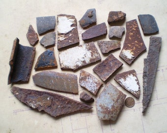 22 Rusty Cast Iron Pieces - Industrial Salvage - Found Objects for Assemblage, Sculpture or Altered Art