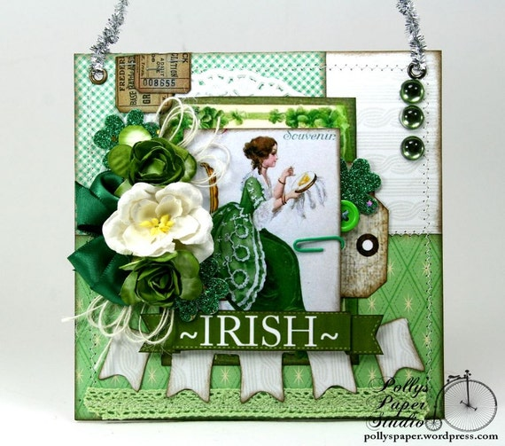 Irish Sewing Wall Hanging Holiday Home Decor Handmade