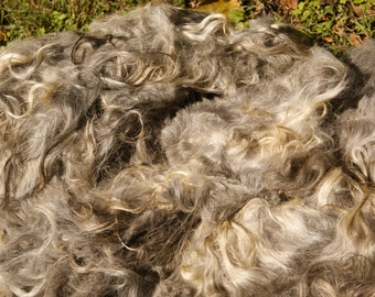 gray mohair fleece