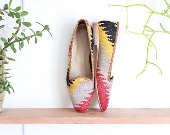 vintage kilim shoes, size 11