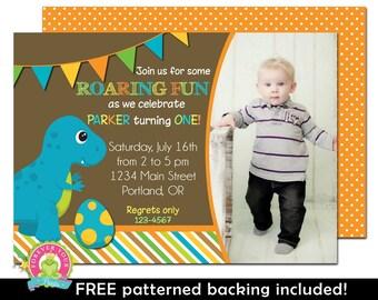 Dinosaur Invitation - Dinosaur Party Invitation - Dinosaur Birthday Invitation - Boys Birthday Invitation - Dinosaur Party Invite