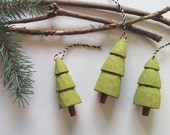Lightweight Hand Whittled Christmas Tree Ornament