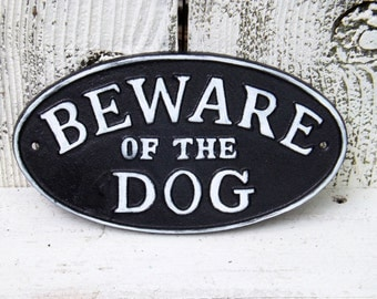 Beware of Dog Sign~Outdoor Sign~Black and White Beware of the Dog Sign~Outdoor Dog Sign,Dog Lover Gift,Puppy Gift Cyber Monday