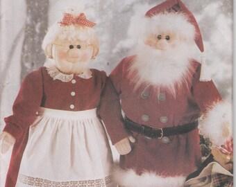 Santa Claus Pattern Mr & Mrs Claus  Uncut Butterick 5179 Christmas Decoration