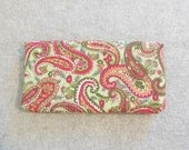 Fabric Checkbook Cover - Paisley