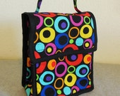 Insulated Lunch Bag - Bright Circles