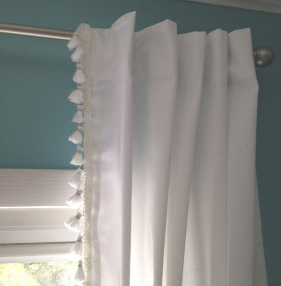 Curtain tassels trim curtain menzilperde net for Why does my shower curtain turn pink