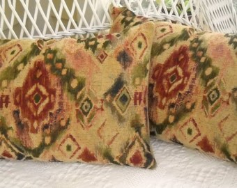 Ikat Chenille  tapestry Lumbar pillow covers
