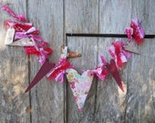 Valentine Garland of Hearts, Made To Order