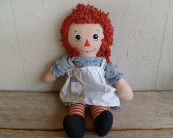 Raggedy Ann Cloth Doll Knickerbocker