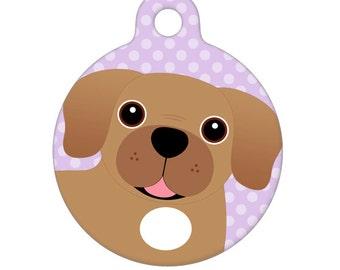 Pet ID Tag - Puggle Pet Tag, Dog Tag