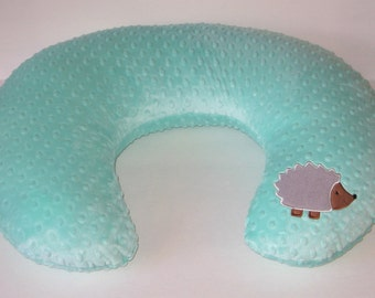 Boppy Cover, Hedgehog, Bobby Pillow Cover, Boppy Pillow Cover,  Boppy Slipcover,  Nursing Pillow Cover, Woodlands, Lodge Decor, Baby Gift