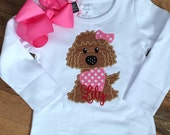 Puppy Love heart Applique Matching Bow Valentines Day Outfit Girls Boutique Clothes Christmas Newborn 3 6 9 12 months 2T 3T 4T 5T 6 8 10